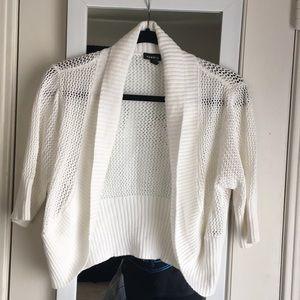 Torrid white knitted sweater cardigan